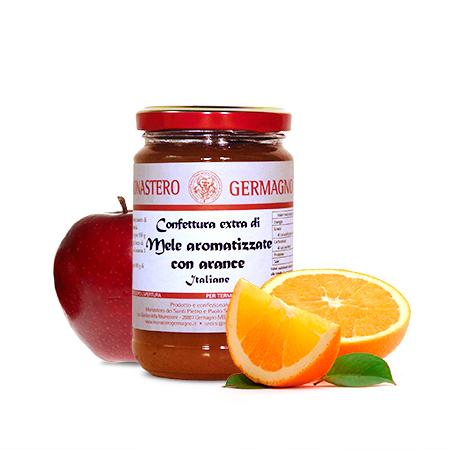 Confettura extra di mele e aroma di arancia